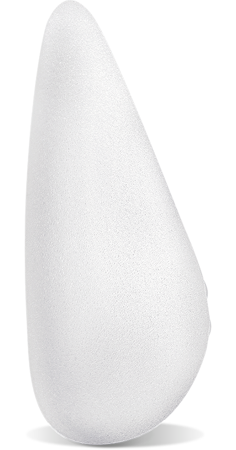 <span>NATRELLE</span><sup>&reg;</sup> 410 anatomical shaped implant side view
